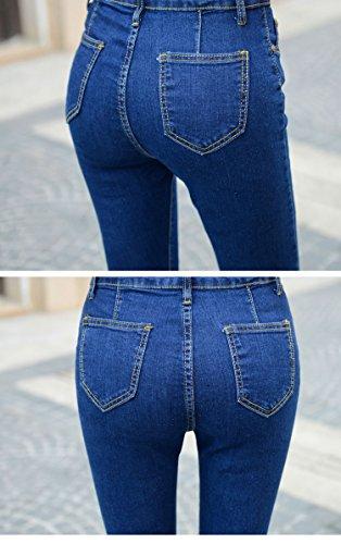 Bottoni 6009 A Chiusura Donna Casual Denim Jeans Con Skinny Da Dorekim Elasticizzati PO6OpH