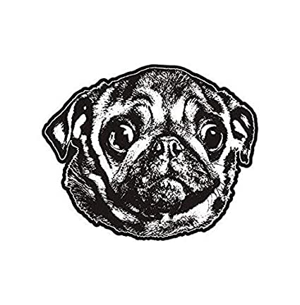 Amazoncom Hot Plates Pug Dog Decal Pet Kennel Adopt Rescue Dogs