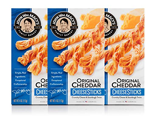 John Wm. Macy's CheeseSticks, Original Cheddar, 4 Ounce Box, Pack of 3 ()