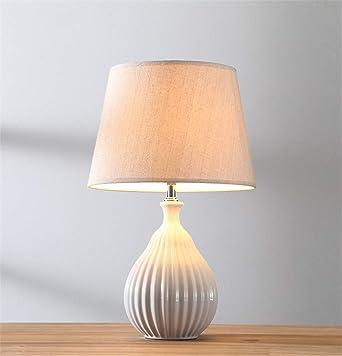 Hffbyvty Lampe De Table En Céramique, Chambre À Coucher