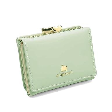 b71dcb43d9d1 Gr8life レディースミニ財布 人気 小さい財布 がま口付き 二つ折り財布 カワイイ レザー コンパクト ウォレット