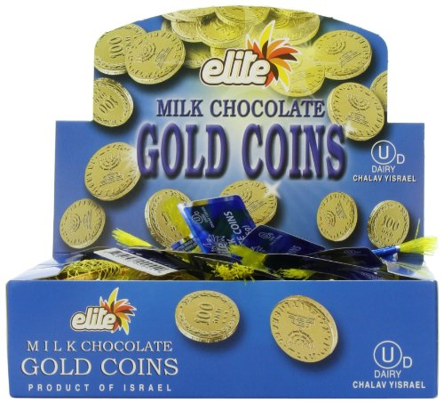 Elite Milk Chocolate Gold Coins Box of 24 Mesh Bags(0.53 oz each) -