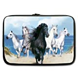 Special Running Horse Pattern New Laptop Sleeve 15 inches (Twin Sides) 100% water resistant neoprene