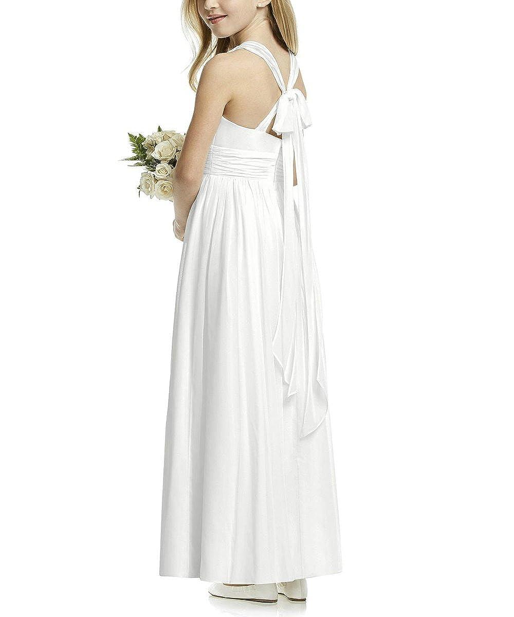 Amazon.com: plwedding elegante gasa vestido de niña de ...