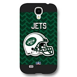 UniqueBox Customized NFL Series Case for Samsung Galaxy S4, NFL Team New York Jets Logo Samsung Galaxy S4 Case, Only Fit for Samsung Galaxy S4 (Black Frosted Shell)