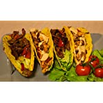 Set Of 2 Stainless Steel Taco Holder by Prod King: Mexican Food Taco Rack Shells Hold 4 or 5 Tacos | Non-Slip & Dishwasher Taco Rack | Bonus: 1 Bonus Silicone Pastry Brush 9 ENHANCE YOUR GUESTS DINING EXPERIENCE: Unlike typical plates and platters, this taco holder provides the perfect, convenient place for guests to set their authentic tacos down without creating a mess. It holds food upright, ensuring savory fillings and fresh toppings stay in place between every bite. Plus, chefs can put the meal together quickly and efficiently, while guests can enjoy their tacos at their own pace. CUSTOMIZE TO MEET YOUR GUESTS' ORDERS: Switch between holding 4 or 5 tacos by simply flipping the choice holder upside down. This versatile structure is perfect for creating multiple portion sizes and customizing to meet your guests' orders. Get creative and use this frame for presenting other foods like cannoli, biscotti, or a sampling of hot dogs! DURABLE MATERIAL, BEAUTIFUL DESIGN: The durable, stainless steel construction looks great and resists bending and scratching for busy restaurants and bars. The unique zig-zag design holds the taco shells in an upright position and reduces the risk that they will fall over. The product dimensions are 210x63x40.