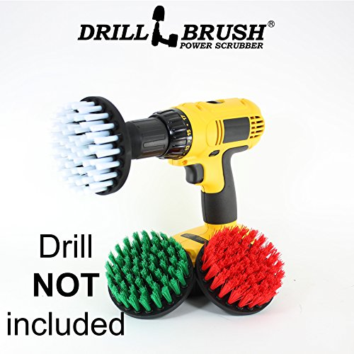 Cordless Drill Powered Cleaning Rotary Electric Brush Kit...