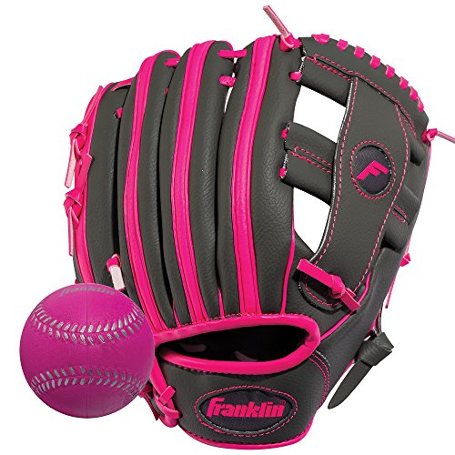 Baseballs Training Foam (Franklin Sports  RTP Teeball Performance Gloves & Ball Combo, Graphite/Pink, 9.5