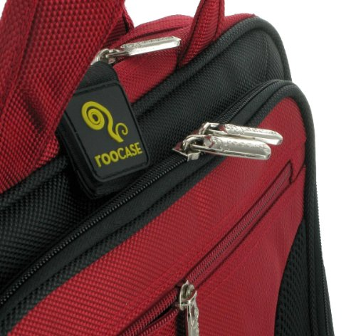 Price comparison product image rooCASE Netbook Carrying Bag for Acer Aspire One 10.1-Inch AOD255-2670 Netbook - Deluxe Black / Red