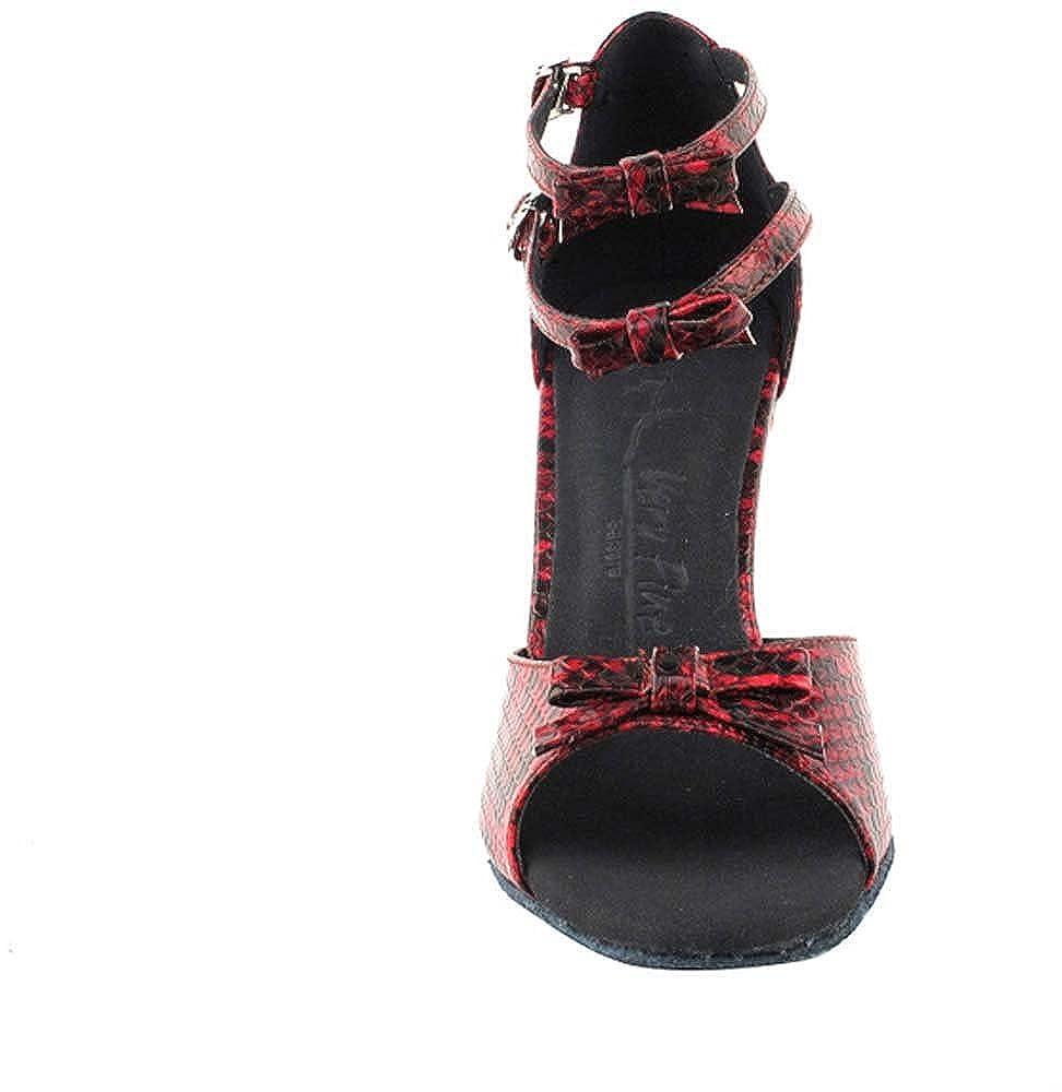 Very Fine 2.5 Heel 7 M US Bundle of 5 Womens Ballroom Dance Shoes Tango Wedding Salsa Dance Shoes Red Snake Sera7005ESSEB Comfortable