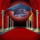 CSFOTO 8x8ft Background For Graduation Ceremony Red Carpet Photography Backdrop Achievement Future Success Symbol Honour Award Degree Hope College Student Photo Studio Props Wallpaper