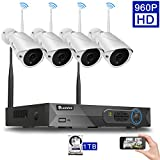 Cheap Luowice PE9013TZ 4CH 960p HD Wireless Security Camera System with 4x960p IP Cameras (Built-in Router, 1.3MP Bullet Camera, IP66, 82ft IR, with 1 TB HDD Pre-installed)