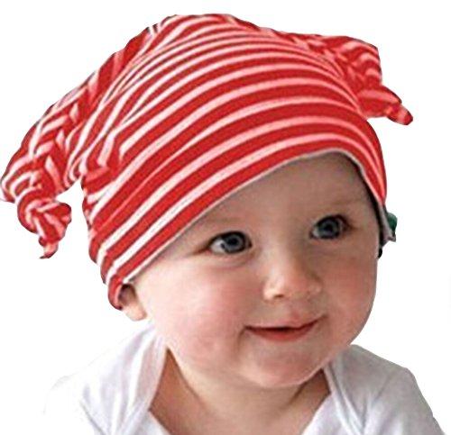 Yonger Newborn Cute Earflap Caps Infant Stripe Elf Baby Hats for Boys Girls
