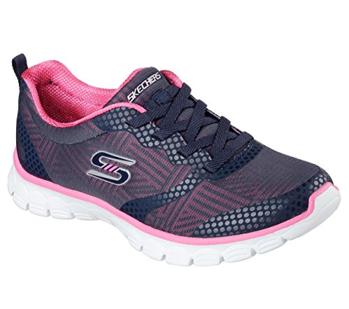Skechers Dames Ez Flex 3.0 Ready To Roll Sneaker Marine / Roze