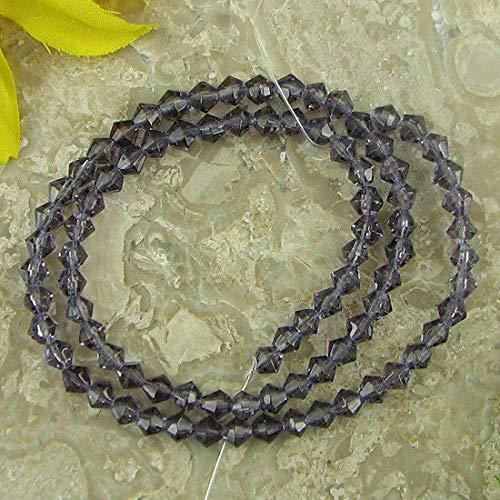 4mm Purple Crystal Glass bicone beads 13'' Strand Gemstone