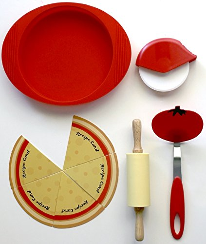 Handstand Kitchen Authentic Pizzeria 9-piece Real Pizza Making Set with Recipes for Kids by Handstand Kitchen (Image #2)