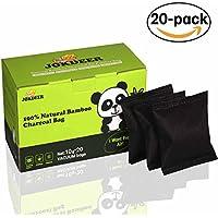 Diaper Pail Deodorizers 100% Natural Air Purifier Carbon Filters Odor Eliminator for Shoes Closets Deodorizer Bathroom,Pets. 20 Pack  (Two Colors- White & Black  Randomly)