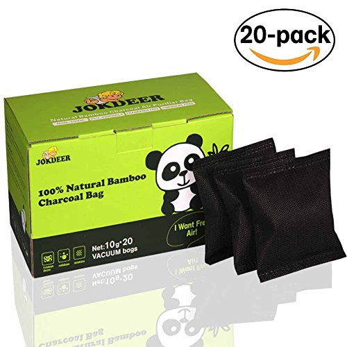 Diaper Pail Deodorizers 100% Natural Air Purifier Carbon Filters Odor Eliminator for Shoes Closets Deodorizer Bathroom,Pets. 20 Pack  (Two Colors- White & Black  (Clean Air Odor Free Diaper)