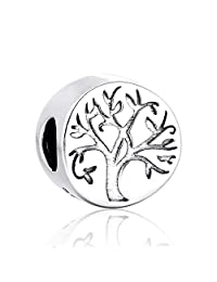 Lovan 925 Sterling Silver Christmas Charms Beads Fits Pandora Bracelet (Family Tree)