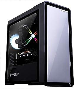 Zalman M3 Micro ATX Mini Tower Computer (Mini ITX) PC Case with Front Metal Design, Pre-Installed 2 x 120mm Fans, Premium Tempered Glass, Dust Filter, Water-Cooling Ready, USB 3.0, MicroATX, Mini-ITX