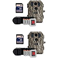 Stealth Cam P18CMO 7MP Infrared Game Trail Camera (2 Pack) + SD Cards (2 Pack)