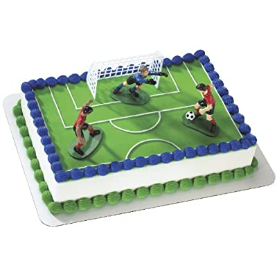 Soccer- Kick Off Boys DecoSet Cake Decoration: Toys & Games