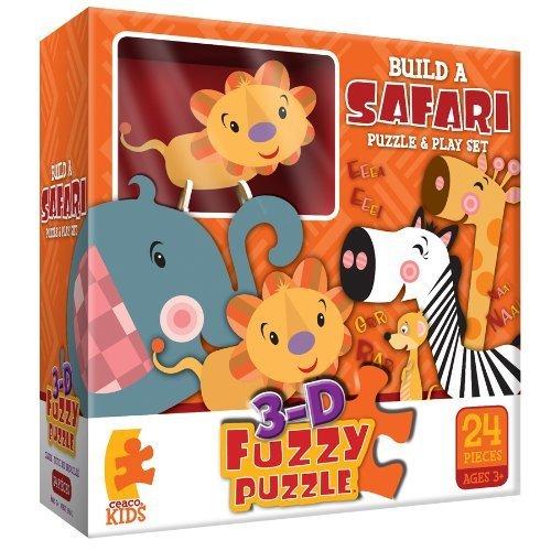 Build A Safari Fuzzy Jigsaw Puzzle by Ceaco (Puzzle Fuzzy Ceaco)