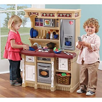 Amazon Com Kids Play Kitchen Set Toddler Cooking Pretend Toy