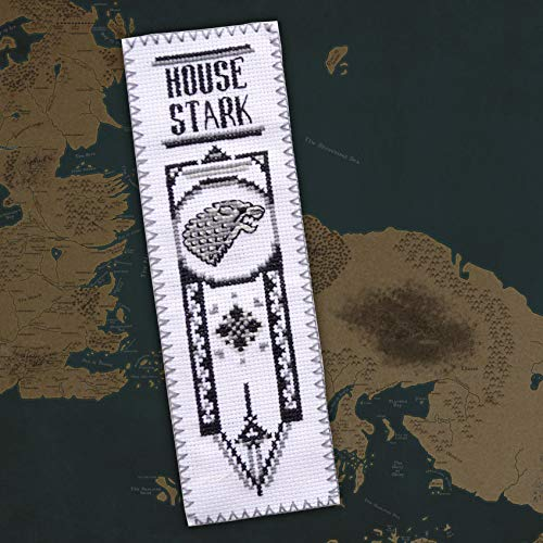 Game of Thrones Cross Stitch Kit House Stark - DIY Embroidery Bookmark with GoT Pattern