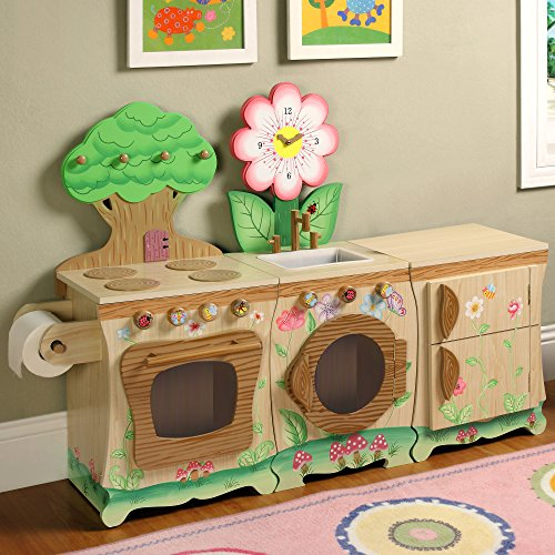 Teamson Kids Enchanted Forest Wooden Play Kitchen Sink Import It All