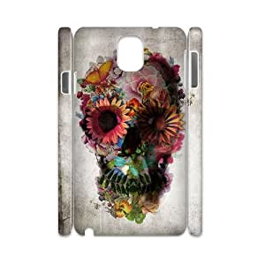 case Of Artistic Skull 3D Bumper Plastic customized case For samsung galaxy note 3 N9000