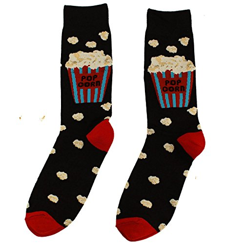 Men's Everday Novelty Fast Foods Comfort Foods Trouser Dressy Casual Comfy Socks Movie Popcorn by SK Hat shop (Image #1)