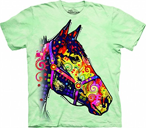 The Mountain Funky Horse Child T-Shirt, Green, Medium