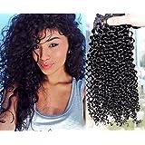 "Remeehi 8Pcs 70G Brazilian Human Hair Deep Curly Clip in Hair Extensions (22"" 2#)"