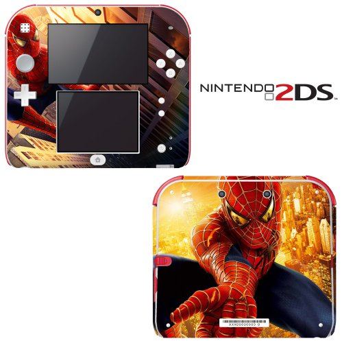 Spiderman Decorative Video Game Decal Cover Skin Protector for Nintendo 2Ds