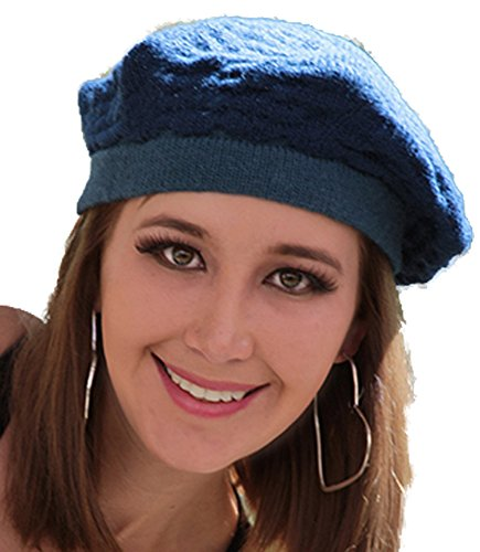 Gamboa Alpaca Beret For Women - Blue