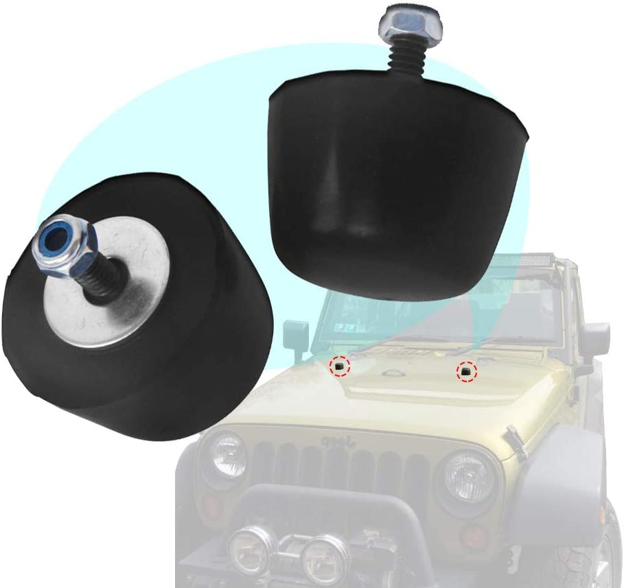 [SCHEMATICS_4CA]  Amazon.com: HEKA 2P Black Rubber Bumper Cushion Hood Stoppers Fit for 1987-2006  Jeep Wrangler YJ 1997-2006 Jeep Wrangler TJ 2007-2015 Jeep Wrangler JK:  Automotive | 2006 Jeep Wrangler Hood |  | Amazon.com