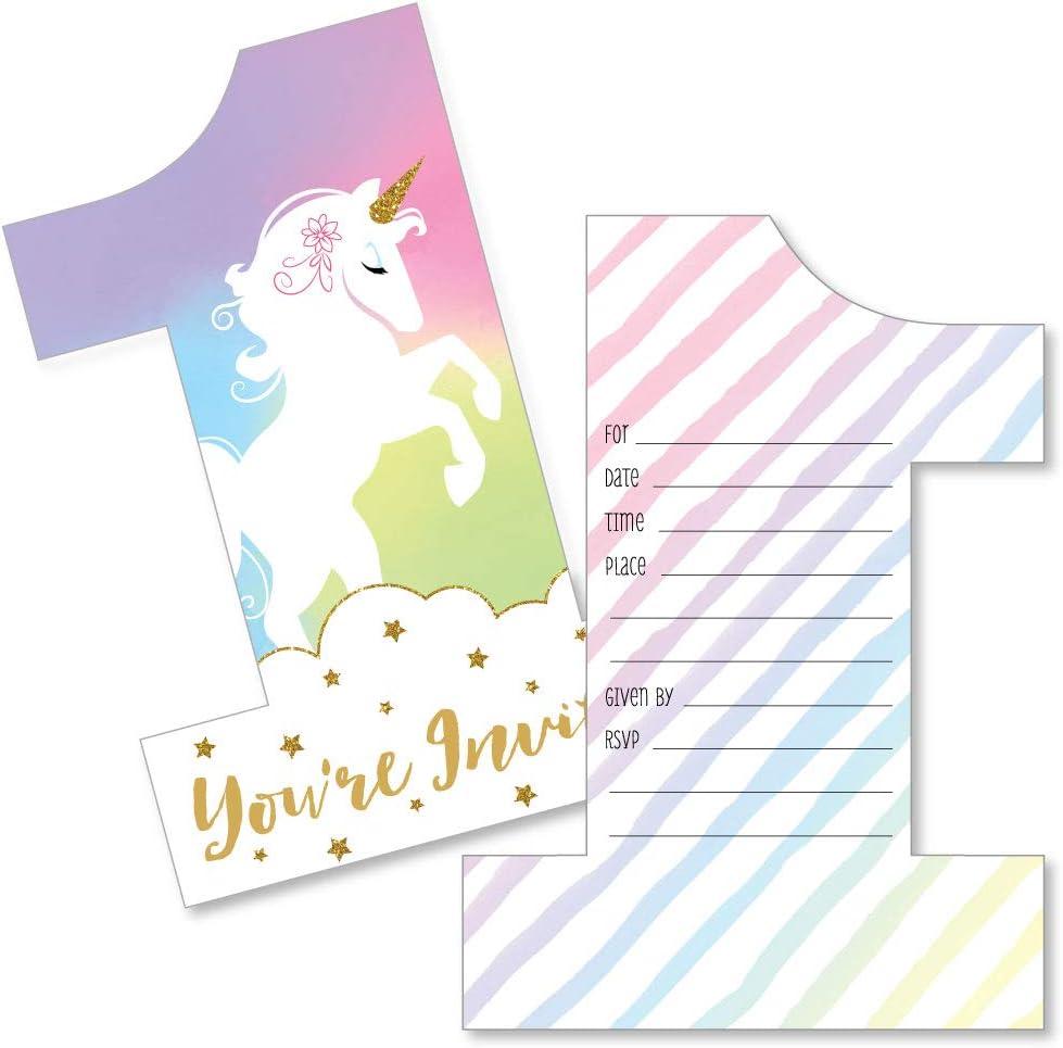 Books for baby card Unicorn Birthday Invitation Thank you Card Unicorn First Birthday Invitation Unicorn Baby Shower Invitation