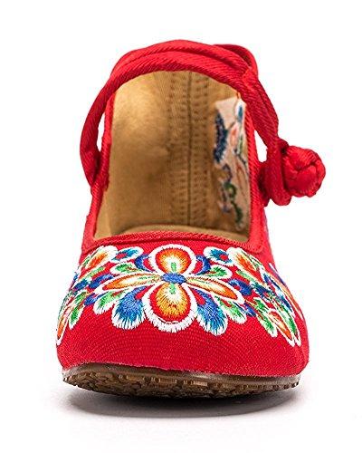L-RUN Merceditas de Algodón Para Mujer, Color Multicolor, Talla 40 EU