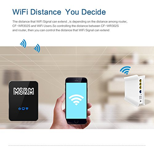 MSRM US300 300Mbps Wireless-N WiFi Long Range Repeater, with 360 Degree Full Coverage Available for 2.4 GHz Router by Iris1228 (Image #4)