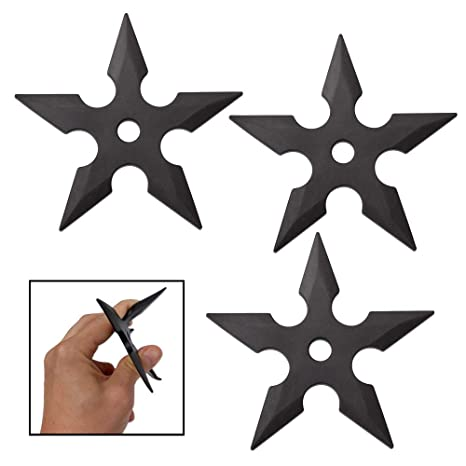 Amazon.com : Master Cutlery 3pc Rubber Throwing Star Set ...