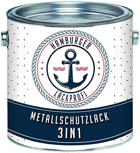 Metallschutzlack 3in1 SEIDENMATT Taubenblau RAL 5014 Blau Metallschutzfarbe 3-in-1 Grundierung, Rostschutz und Deckanstrich in Einem Metalllack Metallfarbe // Hamburger Lack-Profi (1 L)