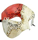 Red Musical Venetian Half Phantom Masquerade Mask