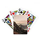 Mountain Desert Sun Mist Clouds Lake Poker Playing Cards Tabletop Game Gift