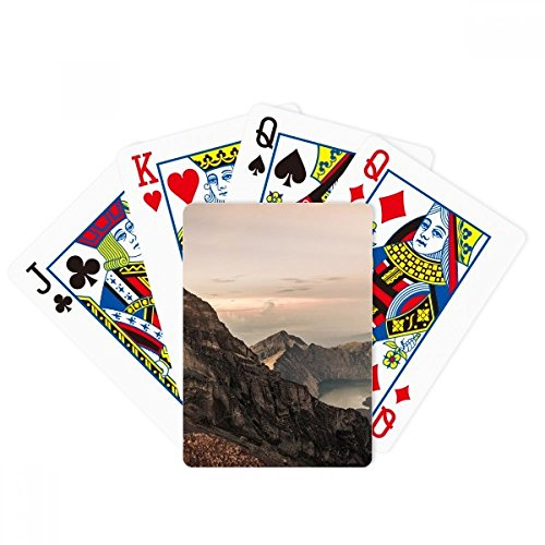 Mountain Desert Sun Mist Clouds Lake Poker Playing Cards Tabletop Game Gift by beatChong