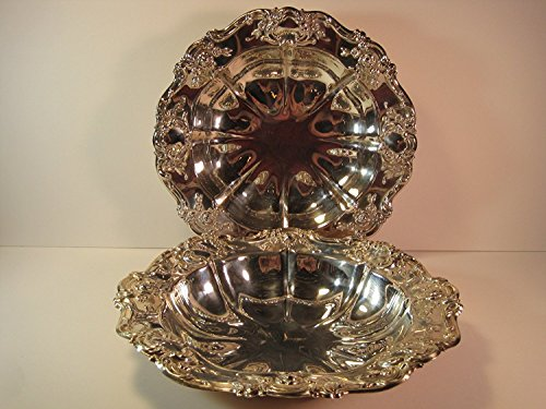 Towle Bowl, Silver-Plated, Silver, Decorative Set of 2, 11 Inches