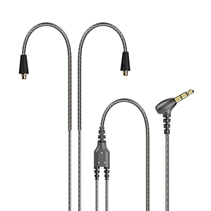 TENNMAK MMCX Detachable Cable for TENNMAK PRO Piano Trio & Other MMCX Earphones- Transparent Black