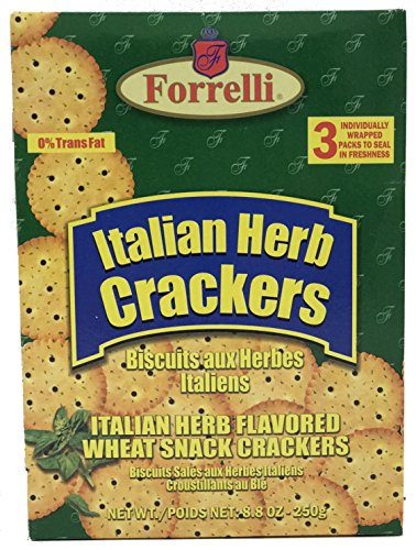 Forrelli Italian Herb Flavored Snack Crackers, 8.8 oz. Flavored Crackers