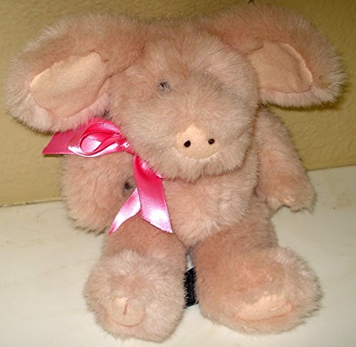 Boyds Bears Fluffy and Plush Pink Pig - 10 Inches