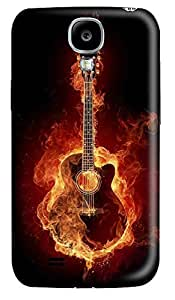 Samsung S4 Case Eternal Flame Guitar 3D Custom Samsung S4 Case Cover